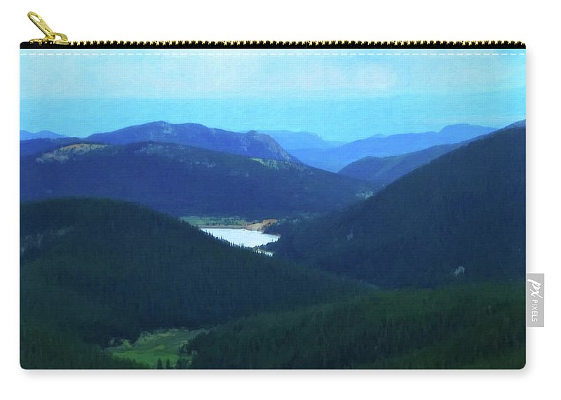 Landscape Carry-all Pouch featuring the painting Pikes Peak 2 by Chris Flees