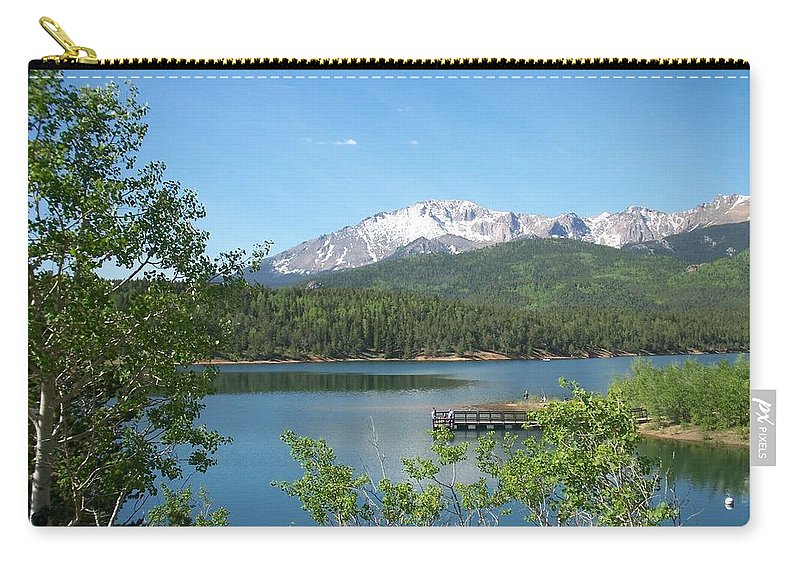 Colorado Carry-all Pouch featuring the photograph Pike's Peak by Anita Burgermeister