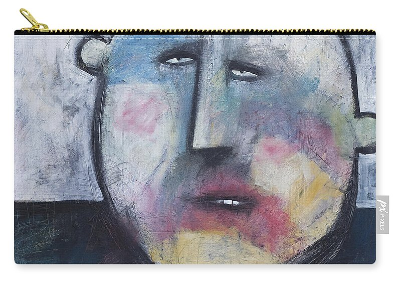 Funny Carry-all Pouch featuring the painting Pillbox by Tim Nyberg