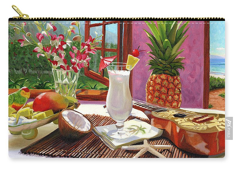 Pina Colada Carry-all Pouch featuring the painting Pina Colada by Steve Simon