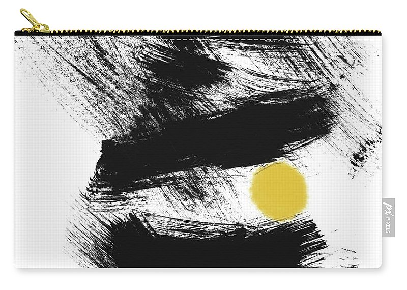 Modern Carry-all Pouch featuring the painting Pinball- Art By Linda Woods by Linda Woods
