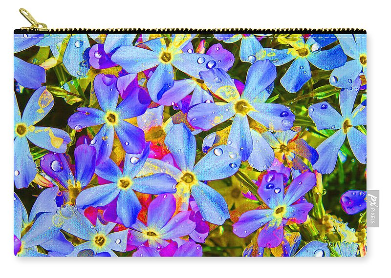 Wildflower Carry-all Pouch featuring the photograph Pincushion Flower by Heather Coen