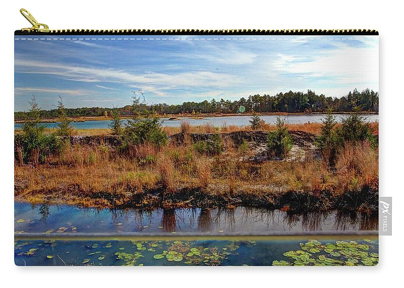 Recent Carry-all Pouch featuring the photograph Pine Barrens Bog In New Jersey by Geraldine Scull