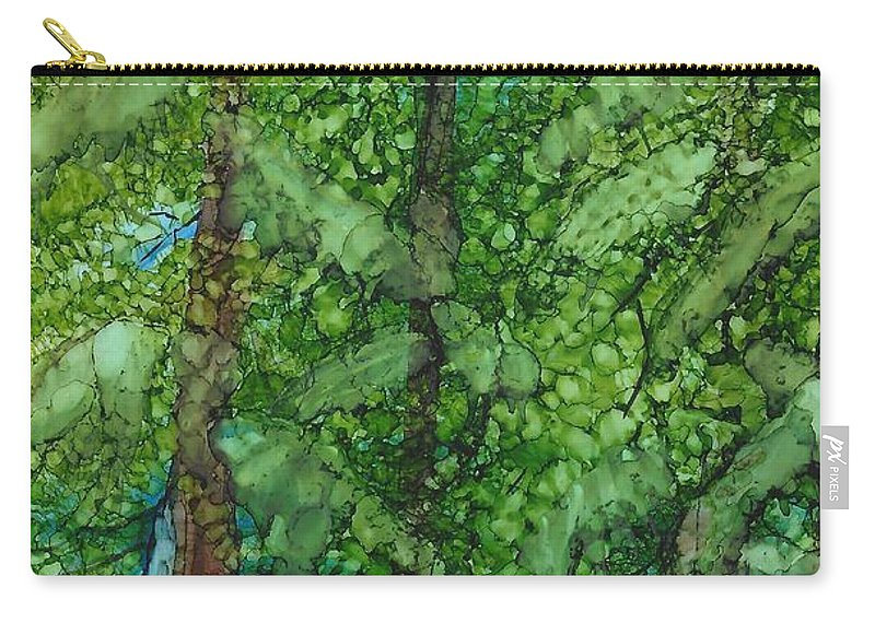 Carry-all Pouch featuring the painting Pine Haven by Lori Radecki