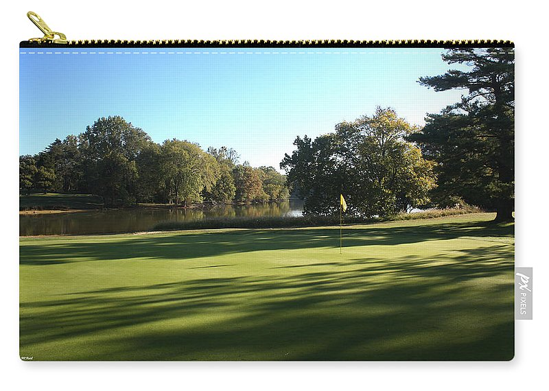Pine Carry-all Pouch featuring the photograph Pine Ridge Golf - Beautiful 14th Par 3 by Ronald Reid