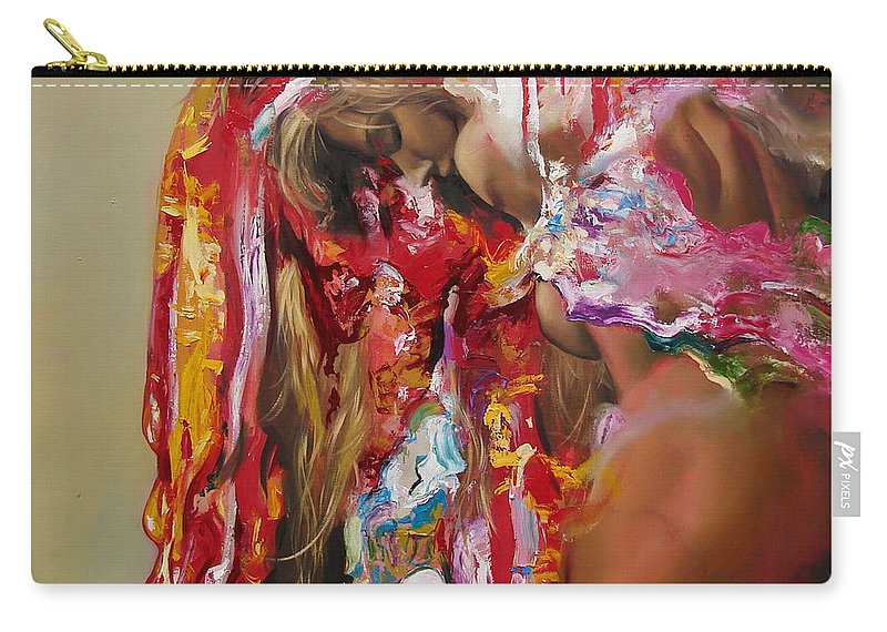 Ignatenko Carry-all Pouch featuring the painting Pine by Sergey Ignatenko