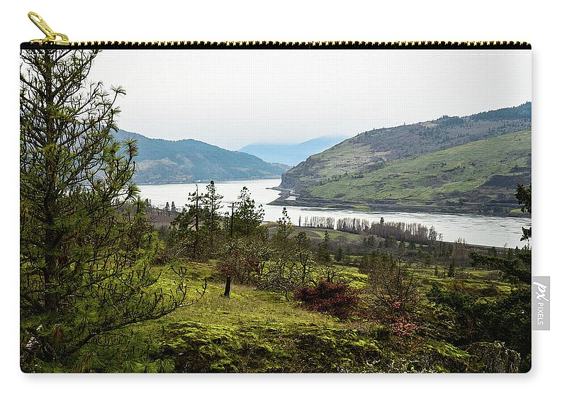 Pine Tree At Memaloose Overlook Carry-all Pouch featuring the photograph Pine Tree At Memaloose Overlook by Tom Cochran
