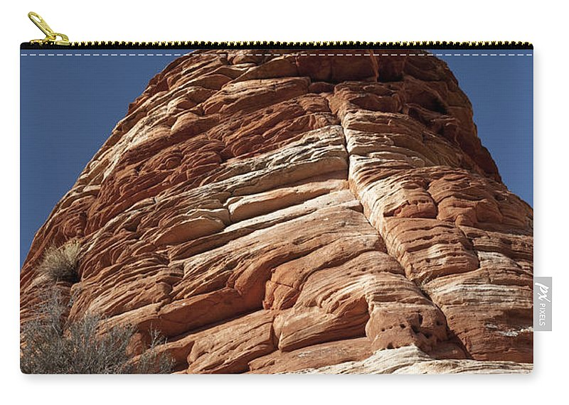 Pinyon Pine Carry-all Pouch featuring the photograph Pine Tree On Sandstone by Sandra Bronstein