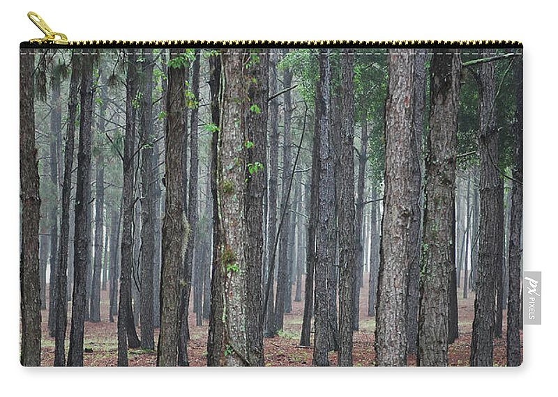 Pine Trees Carry-all Pouch featuring the photograph Pine Trees by Robert Meanor