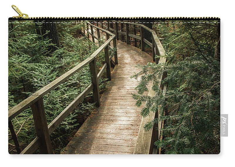 Pine Trees Carry-all Pouch featuring the photograph Pine Trees by Susan Garver