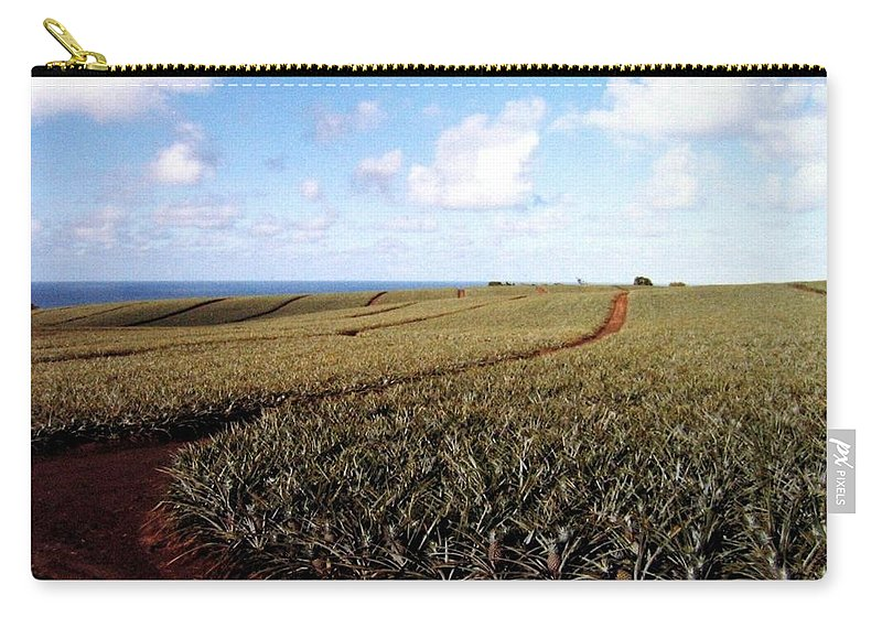 1986 Carry-all Pouch featuring the photograph Pineapple Fields by Will Borden