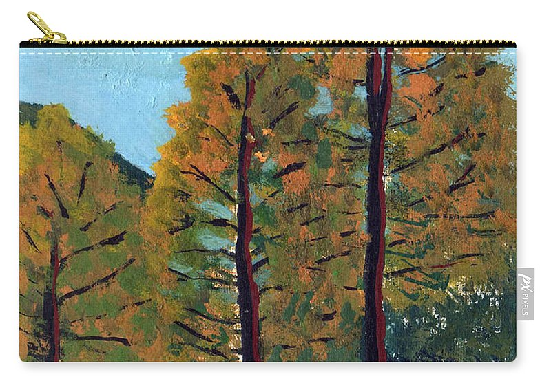 Pines Carry-all Pouch featuring the painting Pines by Ani Barmashi