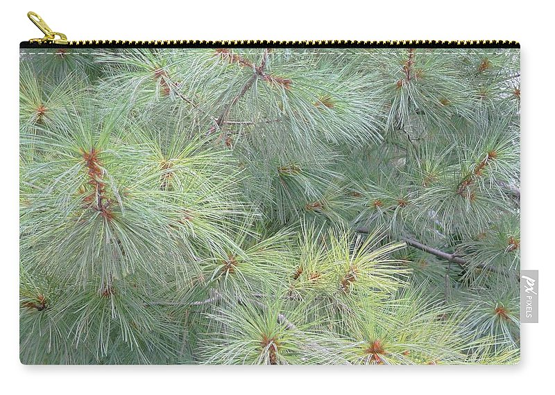 Pines Carry-all Pouch featuring the photograph Pines by Rhonda Barrett