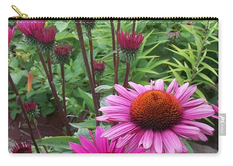 Flowers Carry-all Pouch featuring the photograph Pink All Over by Anita Burgermeister