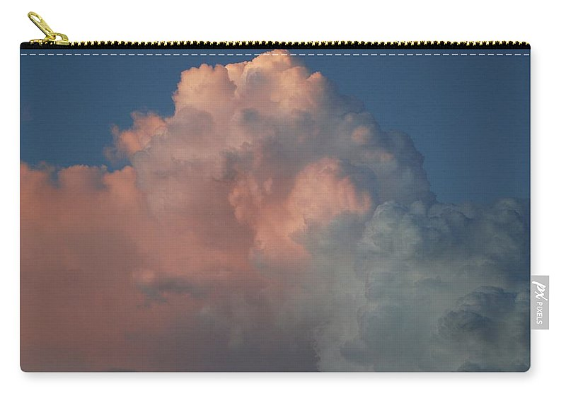 Clouds Carry-all Pouch featuring the photograph Pink And Grey by Rob Hans
