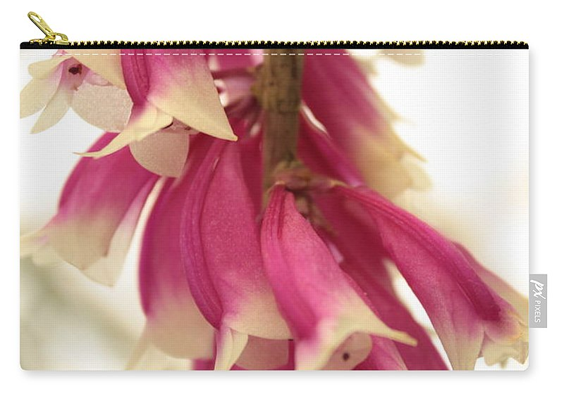 Pink And White Flowers Carry-all Pouch featuring the photograph Pink And White Bells by Carol Groenen