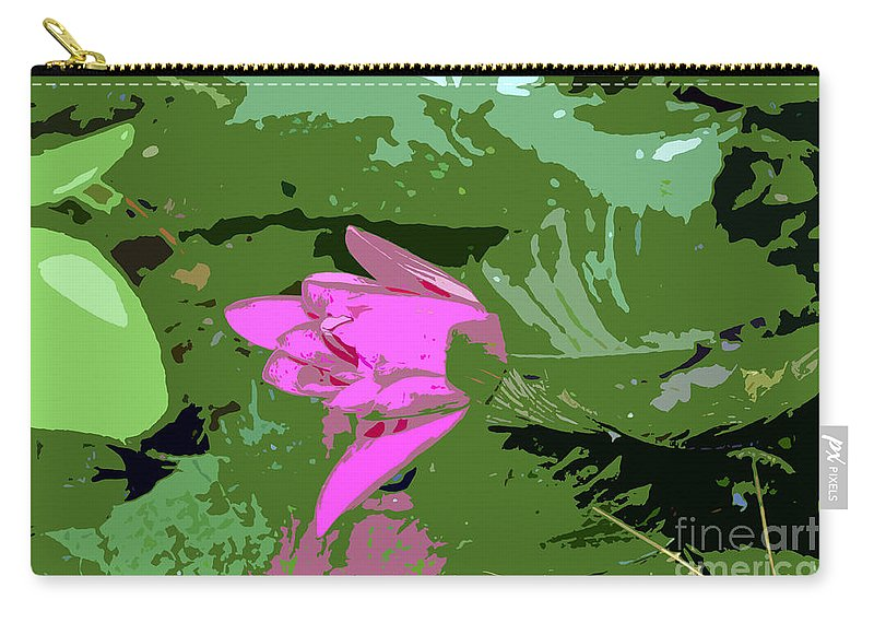 Beautiful Carry-all Pouch featuring the photograph Pink Beauty Work Number 8 by David Lee Thompson
