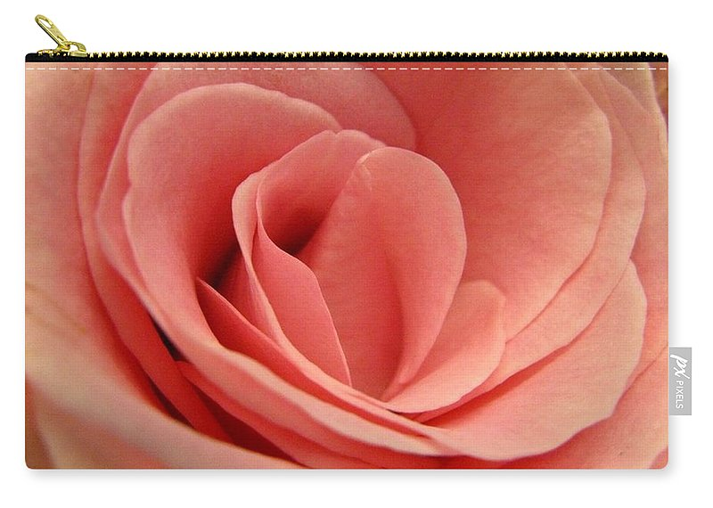 Pink Carry-all Pouch featuring the photograph Pink Blush by Rhonda Barrett