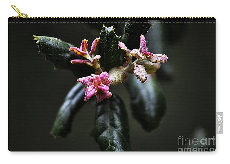 Clay Carry-all Pouch featuring the photograph Pink Bud by Clayton Bruster
