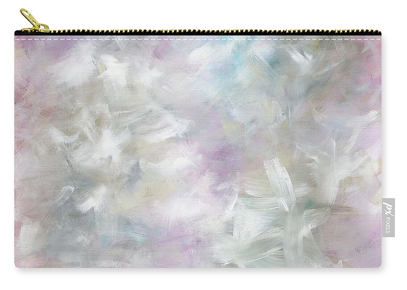 Pink Carry-all Pouch featuring the painting Pink Cloud by Nadine Rippelmeyer