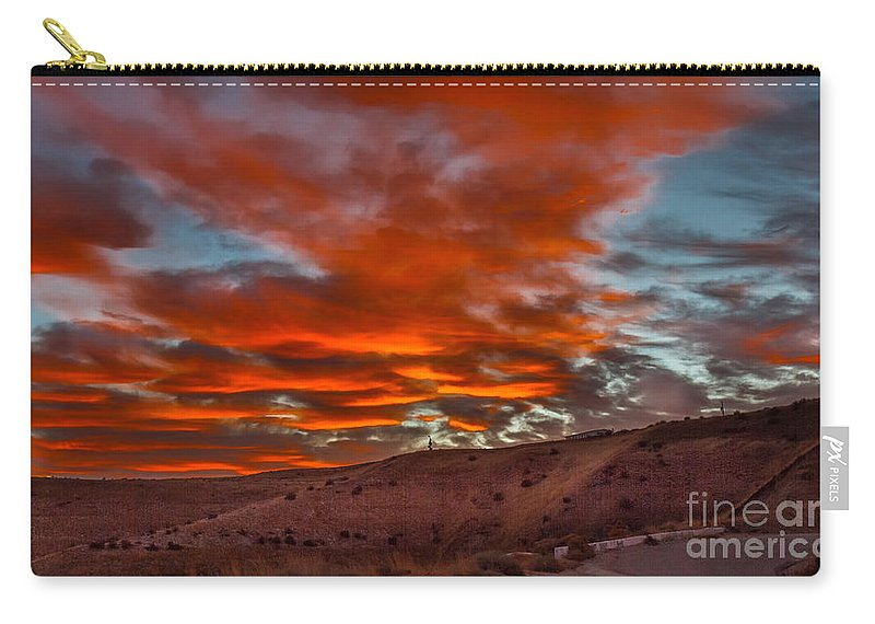 Gem County Carry-all Pouch featuring the photograph Pink Cotton Candy Sunrise by Robert Bales
