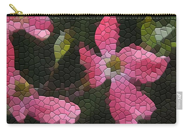 Dogwood Carry-all Pouch featuring the photograph Pink Dogwoods by Kathryn Meyer