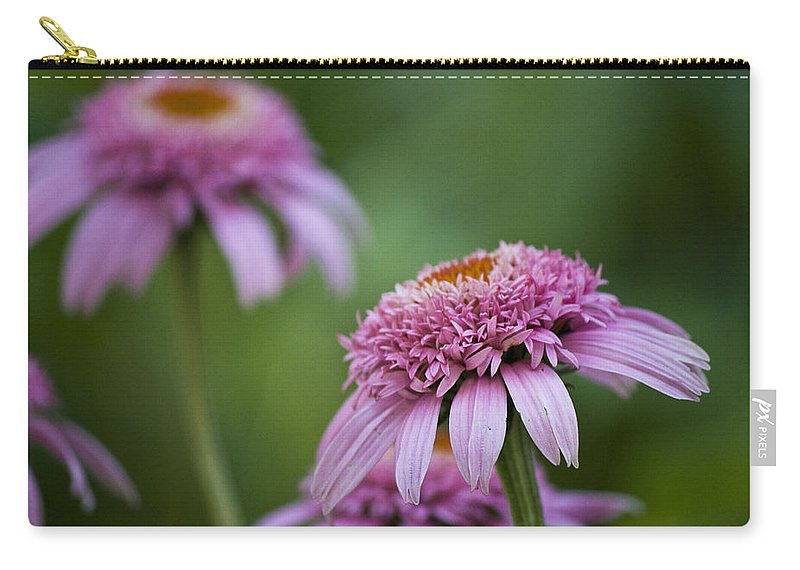 Pink Carry-all Pouch featuring the photograph Pink Double Delight by Teresa Mucha