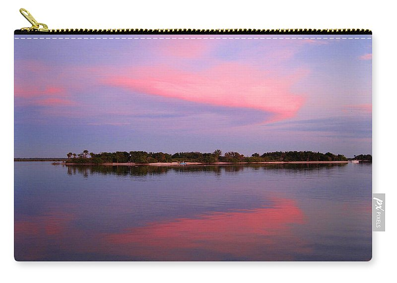 Sunset Carry-all Pouch featuring the photograph Pink Evening by Susanne Van Hulst