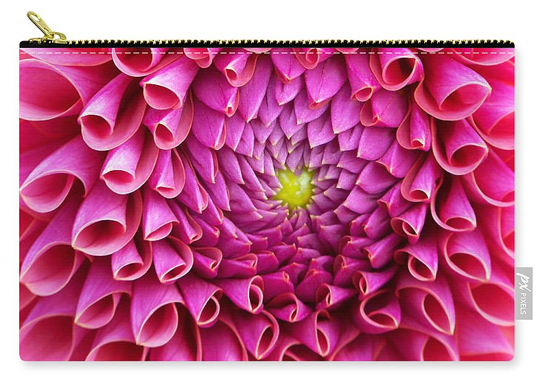 Flower Carry-all Pouch featuring the photograph Pink Flower Close Up by Anthony Jones