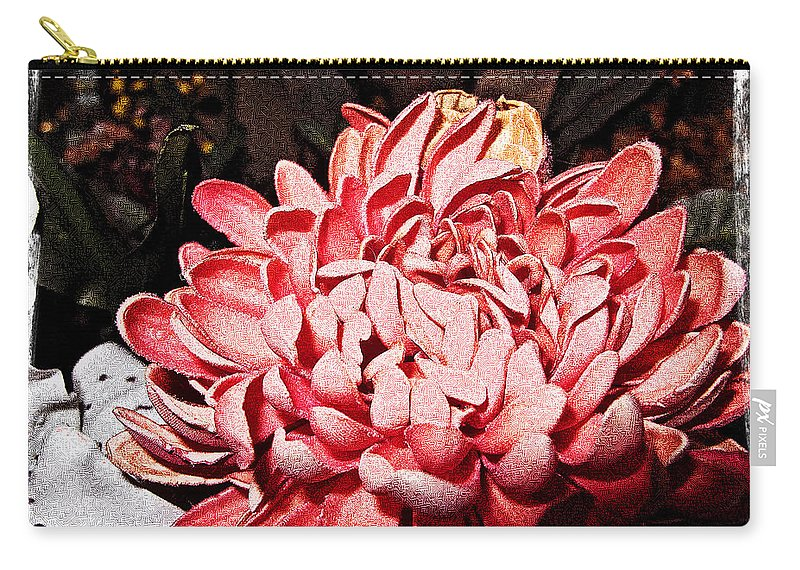 Pink Carry-all Pouch featuring the photograph Pink Flower by Joan Minchak