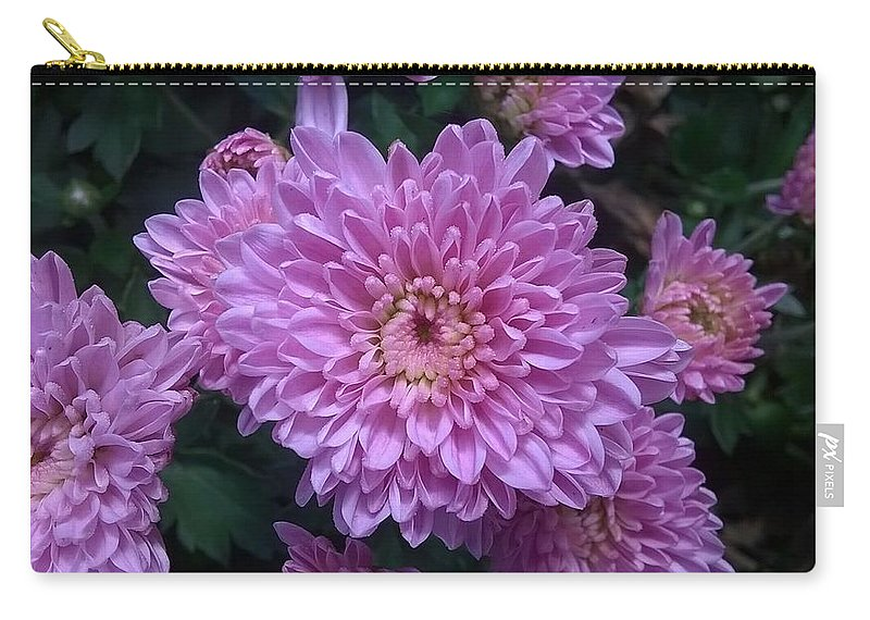 Pink Carry-all Pouch featuring the photograph Pink Flower by Kenny Flaten
