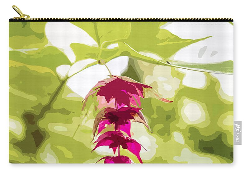 Pink Carry-all Pouch featuring the photograph Pink Flower by Sebastien Coell