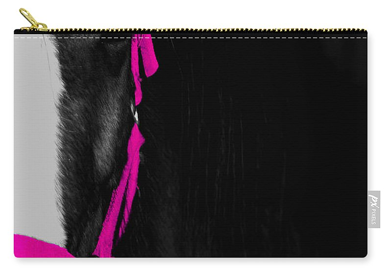 Pink Carry-all Pouch featuring the photograph Pink Halter by Hannah Breidenbach