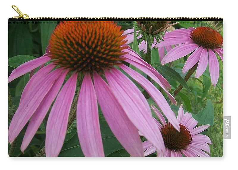 Flowers Carry-all Pouch featuring the photograph Pink In The Garden by Anita Burgermeister