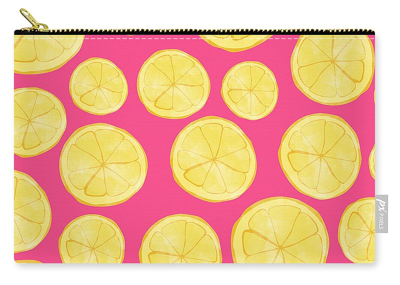 Pink Lemonade Carry-all Pouch featuring the digital art Pink Lemonade by Allyson Johnson