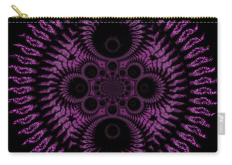 Spiral Carry-all Pouch featuring the digital art Pink Madness by Charleen Treasures