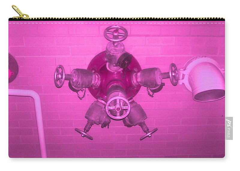 Photograph Carry-all Pouch featuring the photograph Pink Male Pipe by Thomas Valentine