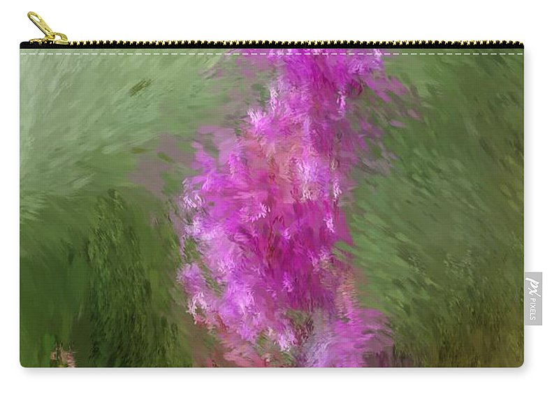 Abstract Carry-all Pouch featuring the digital art Pink Nature Abstract by David Lane