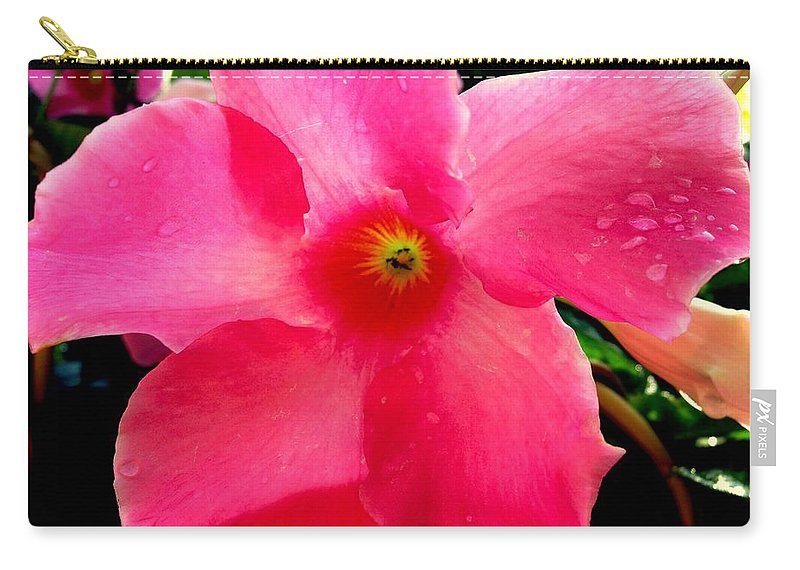 Pink Carry-all Pouch featuring the photograph Pink Pinwheel by Erin Rednour