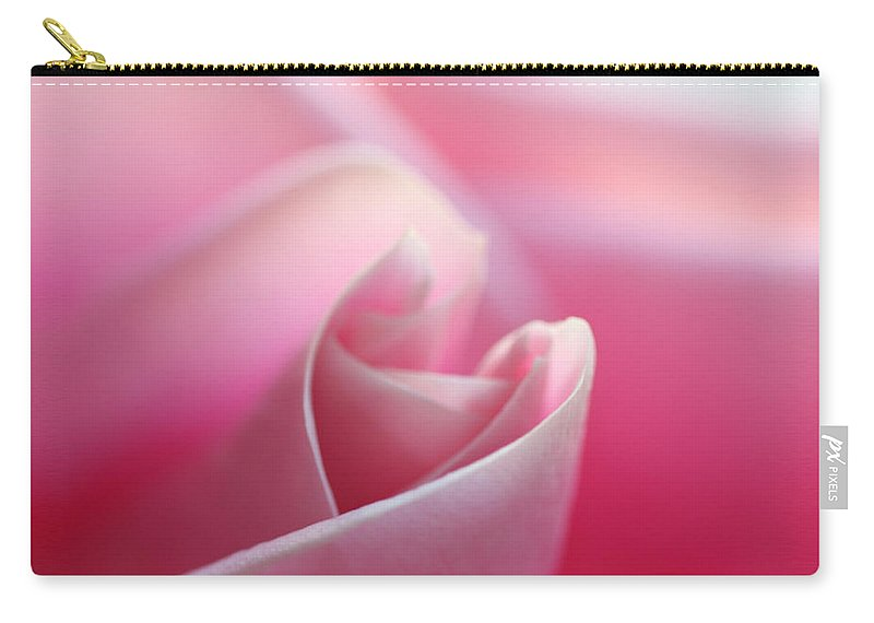 Flowers Carry-all Pouch featuring the photograph Pink Rose 2 by Norah Holsten