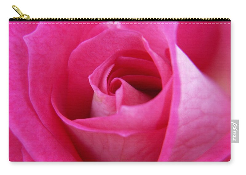 Rose Carry-all Pouch featuring the photograph Pink Rose by Amy Fose