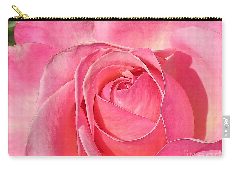 Canvas Print Carry-all Pouch featuring the photograph Pink Rose by Diane Greco-Lesser