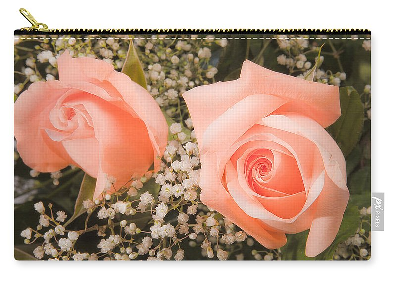 Roses Carry-all Pouch featuring the photograph Pink Roses Fine Art Photography Print by James BO Insogna