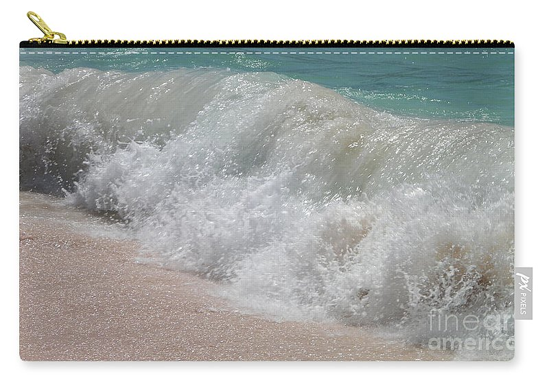 Bermuda Carry-all Pouch featuring the photograph Pink Sand Beaches by Gina Sullivan