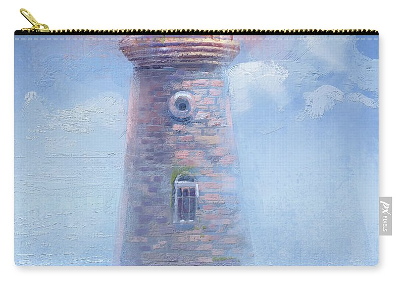 Light House Carry-all Pouch featuring the painting Pink Sky by Kristina Vardazaryan