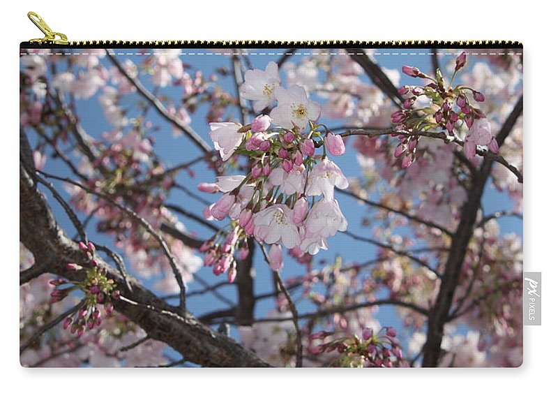 Spring Carry-all Pouch featuring the photograph Pink Spring Blossoms by Carol Groenen