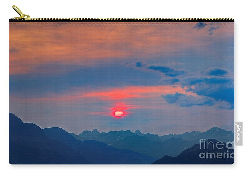 Sun Carry-all Pouch featuring the photograph Pink Sun by James Anderson