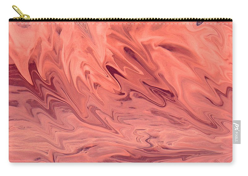 Abstract Carry-all Pouch featuring the digital art Pink Surge by Ian MacDonald