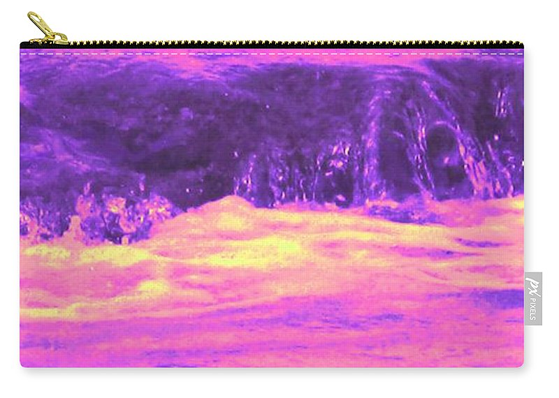 Seascape Carry-all Pouch featuring the photograph Pink Tidal Pool by Ian MacDonald