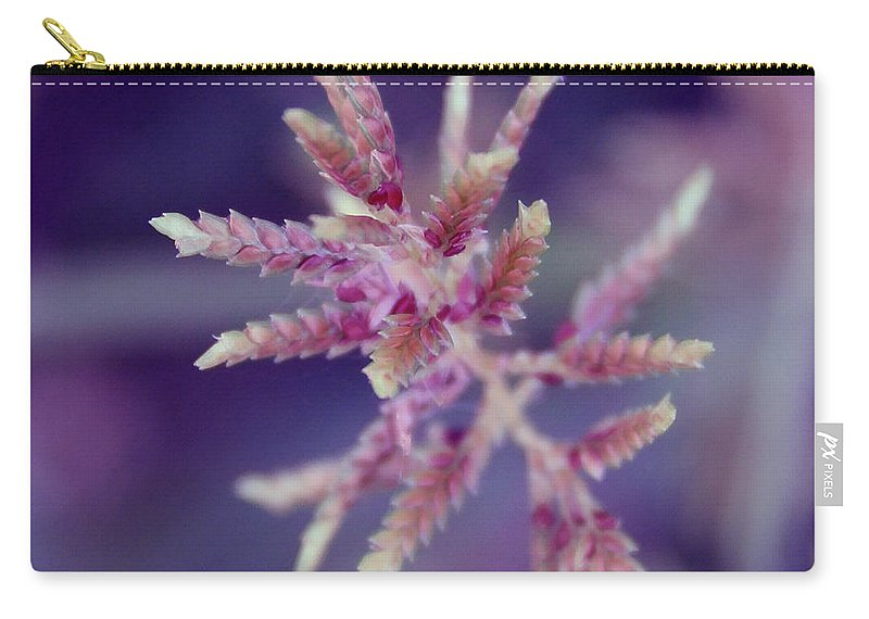 Nature Carry-all Pouch featuring the photograph Pink Weed by Linda Sannuti